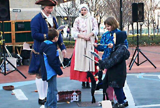 Audience participation is part of the fun at The Trouble with Trenton puppet show. Photo courtesy of Old Barracks Museum