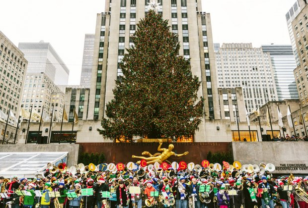 Tuba Christmas at Rockefeller Center is a rollicking take on holiday caroling. Photo by Rachel Wright
