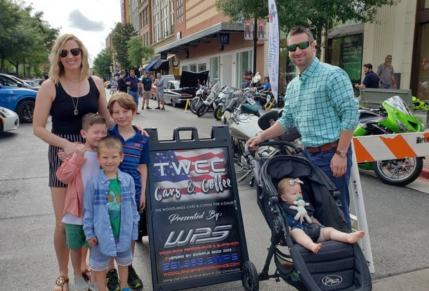 Families can spend Sunday morning checking out all sorts of cars and enjoying coffee at The Woodlands Car Club Cars & Coffee For a Cause. Photo courtesy of Dana Pritchard, Woodlands Performance & Suspension.
