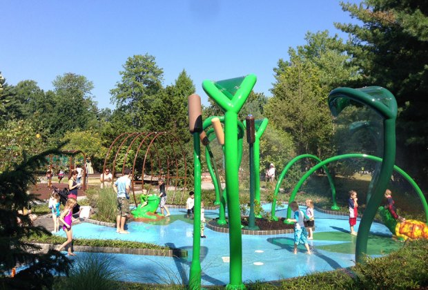 Van Saun County Park's charming pond-themed sprayground is a sweet place to cool off. Photo courtesy of MRC recreation