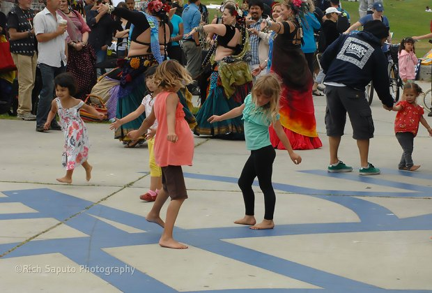 There's no such thing as too young to dance at the beach. Photo courtesy of Venice Spring Fling