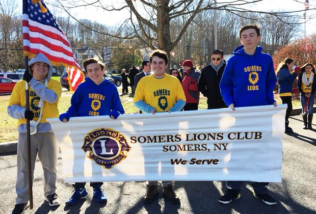 The Lions will be participating in the annual Veterans Day parade and ceremony. Photo courtesy of the Somers Lions Club