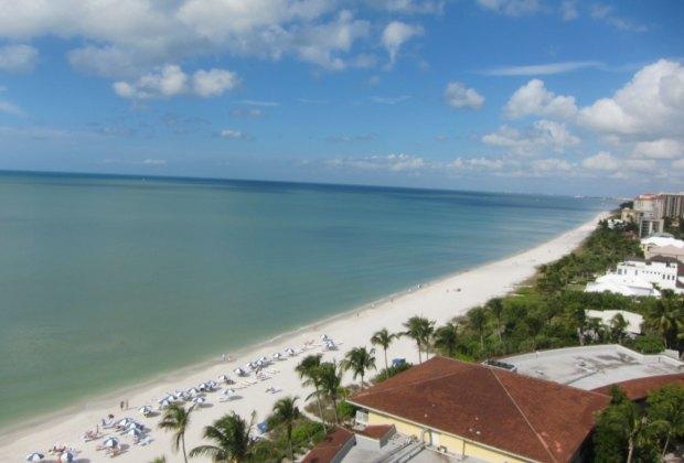 View from a room at La Playa Beach Resort