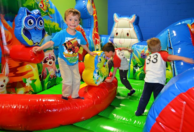 Inflatables and pretend play combine at VinKari Safari.