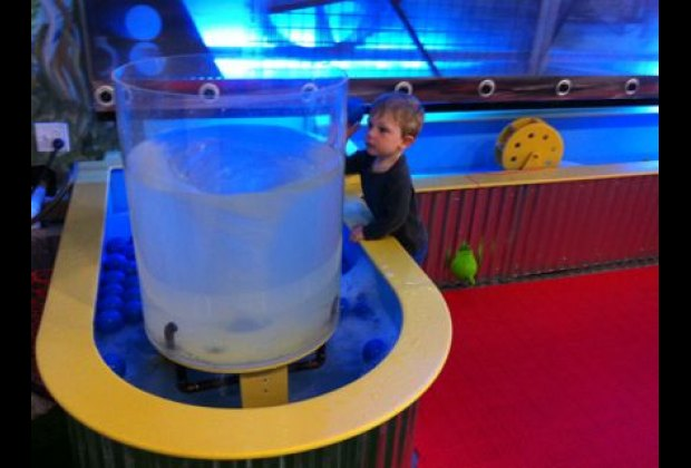 The water play area includes a mesmerizing whirlpool
