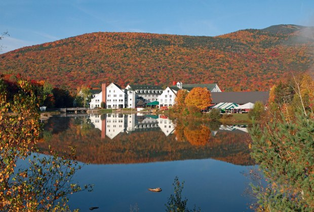 Hiking toward a colorful view of the Waterville Valley Resort in New Hampshire. Photo courtesy of Cappi Thompson via Flickr