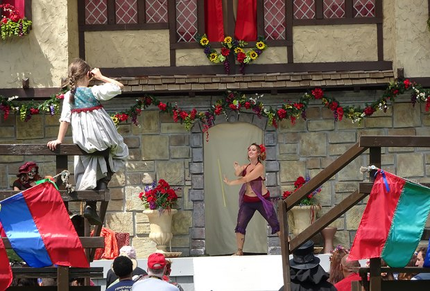 Take in a performance at the Renaissance Faire. Photo by Susan Miele