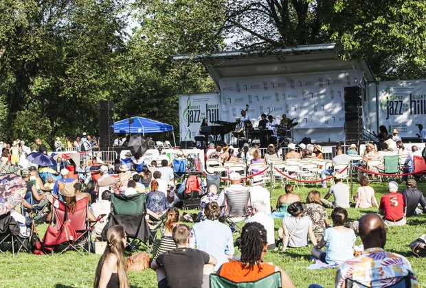 Head to Central Park for live jazz, swing dancing, and more. Photo courtesy of Great Jazz on the Great Hill