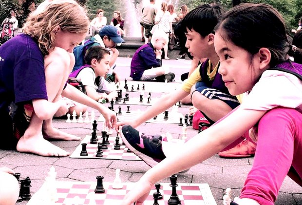 Throw down a chess board any place, any time! Photo courtesy of Chess NYC Fun & Training Camp.