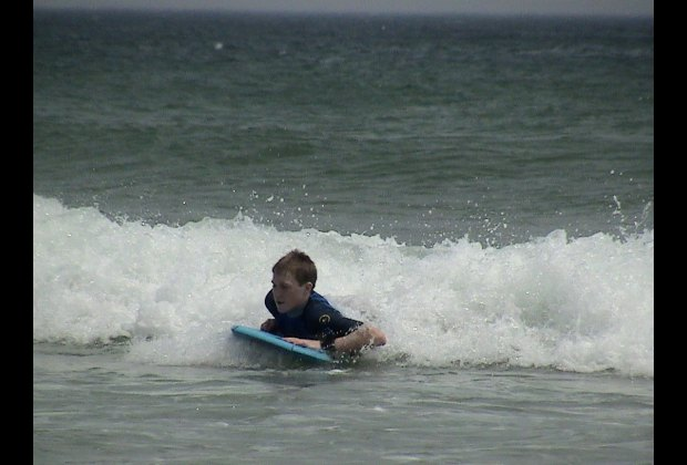 Boogie boarding at LeCount