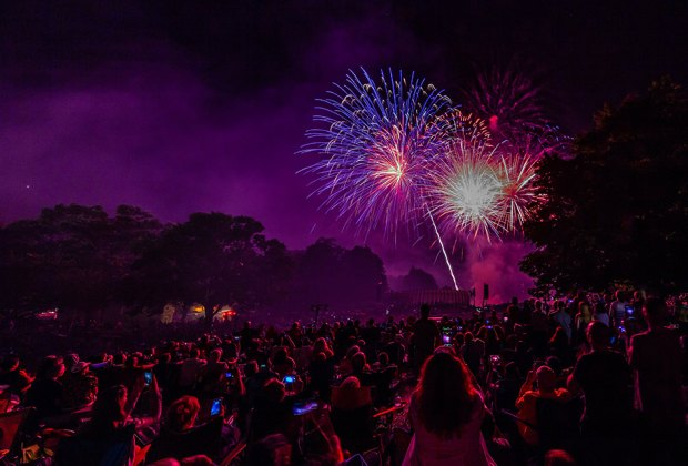 Celebrate July 4th at West Point with a stunning fireworks display over the Hudson River. Photo courtesy of West Point