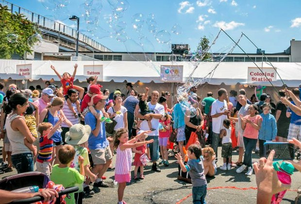 Look for bubbles, ice cream, activities and more at the annual WGBH FunFest. Photo courtesy of WGBH