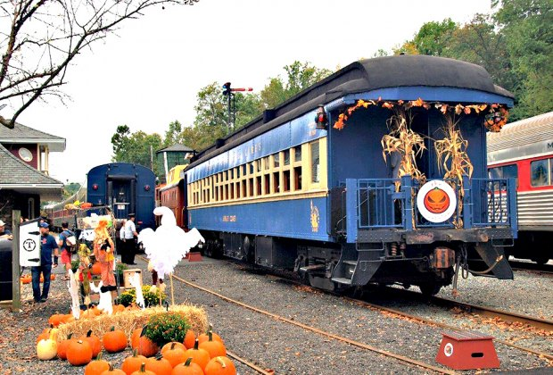 "Celebrate the fall harvest with a ride on the ""Pumpkinliner."" Photo courtesy of the Whippany Railway Museum"