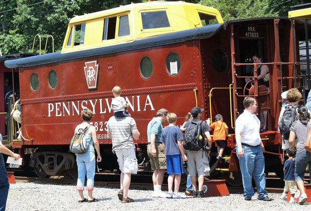Hop aboard for a scenic train ride on Father's Day. Photo courtesy of the Whippany Railway Museum