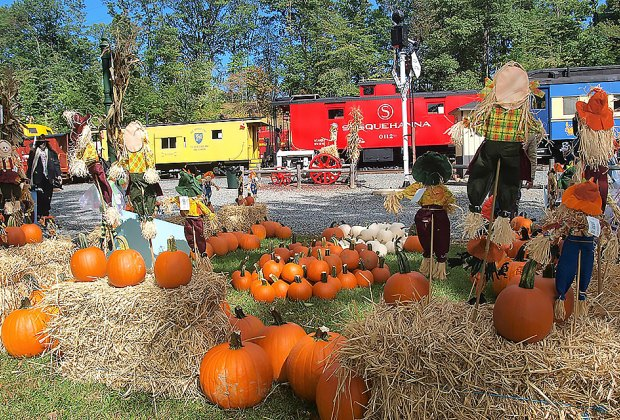 The Whippany Railway Museum's Pumpkin Festival includes a ride on the Pumpkinliner and other festive fall fun.