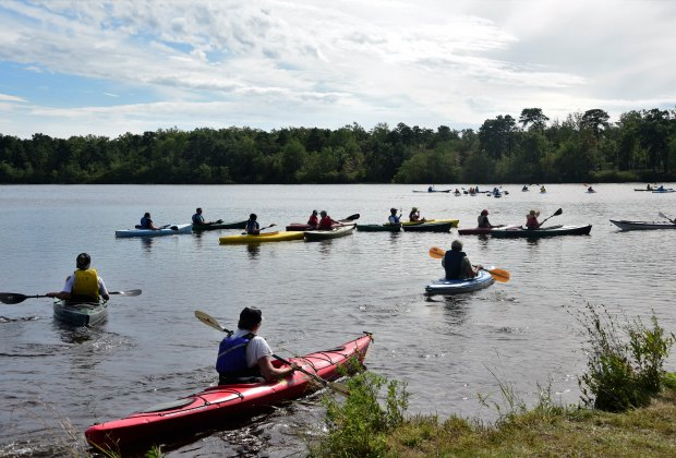 Go kayaking, fishing, rock climbing, and more at the WILD Outdoor Expo. Photo courtesy of the event