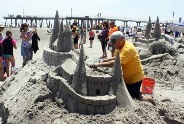 Head to the beach to check out the amazing creations at the Wildwood Crest Sand Sculpting Festival. Photo courtesy of the event