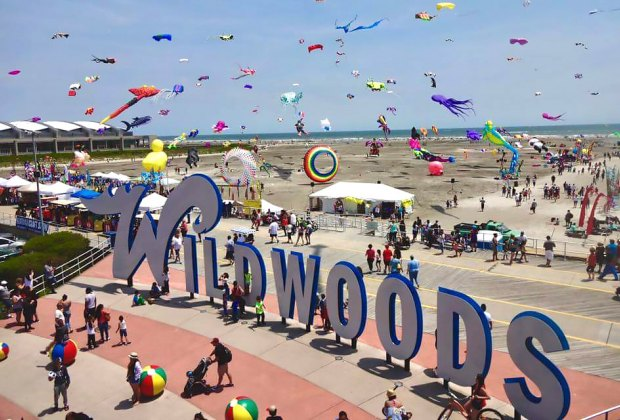 One of the world's top kite festivals takes place right here in NJ on Memorial Day weekend! Photo courtesy of the Wildwoods International Kite Festival