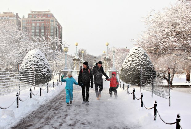 Winter walk in the Public Garden. Photo courtesy of Massachusetts Office of Travel & Tourism