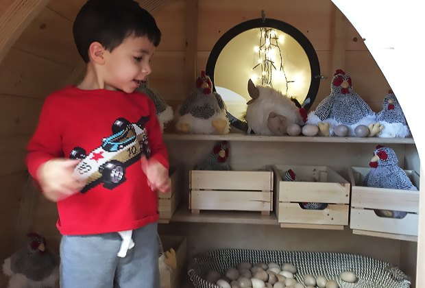 Collect some eggs in the cute little chicken coop.