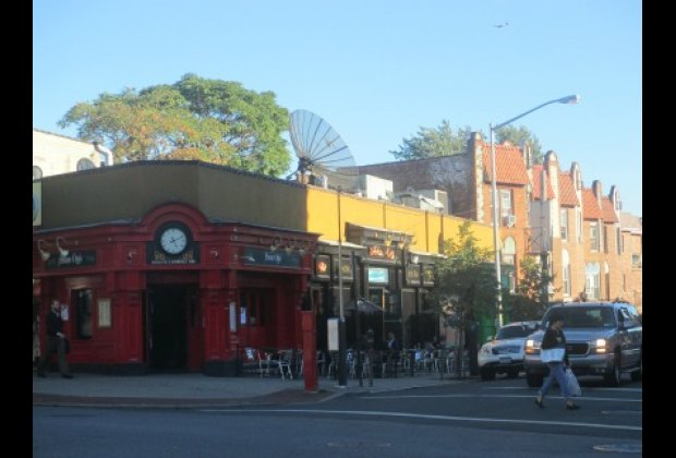 Woodside Avenue, the neighborhood's commercial hub