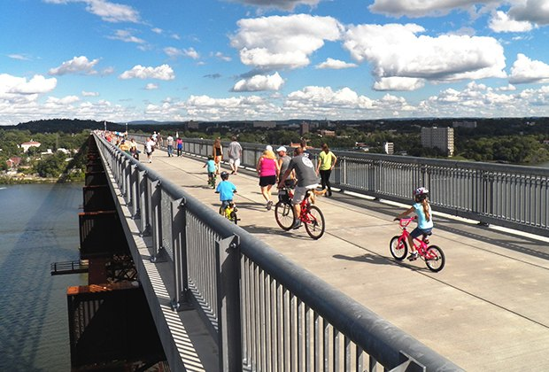 Enjoy glorious views on the Walkway Over the Hudson. Photo by Fred Schaeffer/courtesy of the Walkway.
