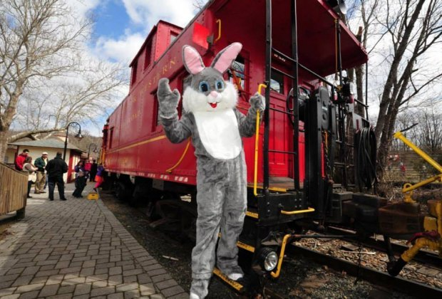 The Bunny Train will be leaving the station soon! Photo courtesy of the Danbury Railway Museum
