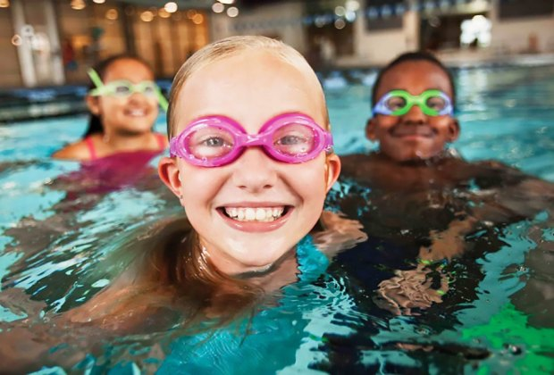 The Huntington YMCA's new aquatics camp helps kids develop confidence in the water. Photo courtesy of the YMCA of Long Island