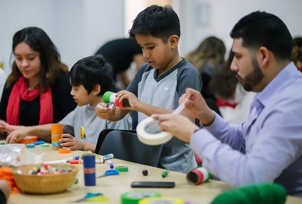 Spend a family day making art at Zimmerli Museum's Art Together. Photo courtesy of the museum