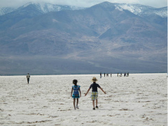 Death Valley with Kids: Salt Flats of Badwater Basin