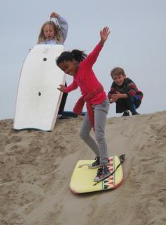 Sledding the Venice Sand Berms